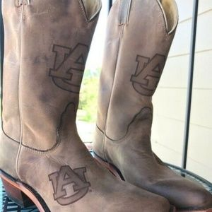 NACONA AUBURN UNIVERSITY WOMENS BOOTS Size 6.5 EUC